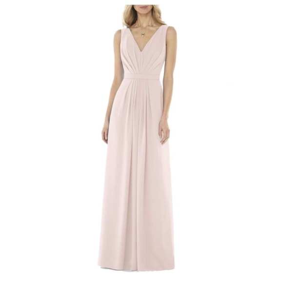 4f8d0cf6a7e Social Bridesmaids V-Neck Georgette Blush Dress
